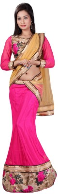 Pooja Fashions Floral Print Women's Lehenga, Choli and Dupatta Set