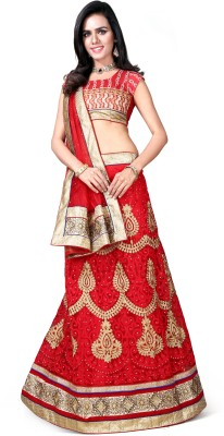 DDCOLLECTION Embroidered Women's Lehenga, Choli and Dupatta Set
