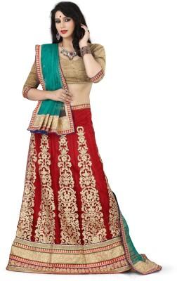 Anwesha Sarees Embroidered Women's Lehenga, Choli and Dupatta Set