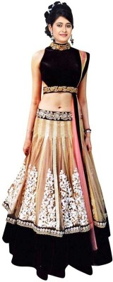 BollyLounge Embroidered Women's Ghagra, Choli, Dupatta Set