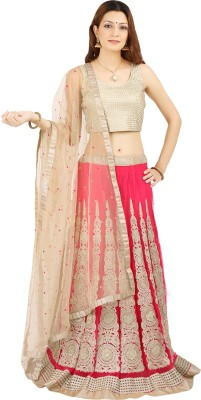 Saianna Style Studio Embroidered Women's Lehenga, Choli and Dupatta Set