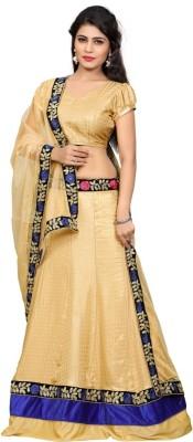 Namo House Solid Women's Lehenga, Choli and Dupatta Set