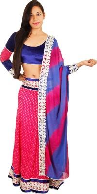 VFA Solid Women's Ghagra, Choli, Dupatta Set