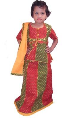 Sudharaj Printed Baby Girl's Lehenga, Choli and Dupatta Set