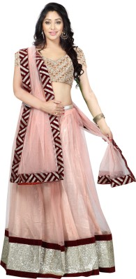 Anu Clothing Self Design Women's Lehenga, Choli and Dupatta Set