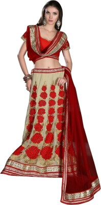 Rue Boutique Embroidered Women's Lehenga, Choli and Dupatta Set