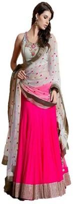 Scstore Self Design Women's Lehenga, Choli and Dupatta Set