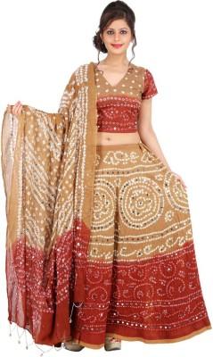 Ambika Ecommerce Self Design Women's Lehenga, Choli and Dupatta Set