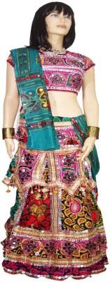 Anjan Printed Women's Lehenga, Choli and Dupatta Set