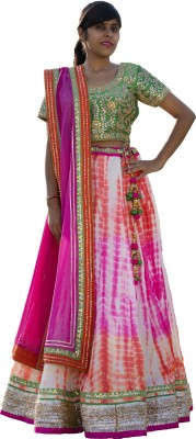 Paavani Embroidered Women's Lehenga, Choli and Dupatta Set