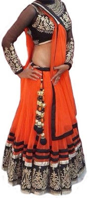 FreyaCreation Embroidered Women,s Lehenga, Choli and Dupatta Set