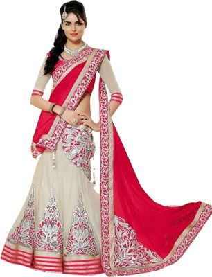 Krishna Fashion Embroidered Women's Lehenga, Choli and Dupatta Set(Stitched) at flipkart
