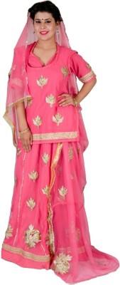 Anvika Creations Self Design Women's Lehenga, Choli and Dupatta Set
