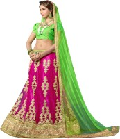 Kanheyas Chaniya, Ghagra Cholis - Kanheyas Embroidered Women's Lehenga, Choli and Dupatta Set(Stitched)