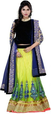 Shreeji Enterprise Georgette Embroidered Lehenga Choli Material