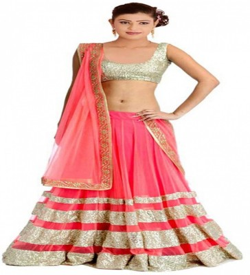 D3ETHNIC Self Design Women's Lehenga, Choli and Dupatta Set
