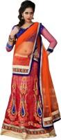 Go4fashion Chaniya, Ghagra Cholis - Go4fashion Embroidered Women's Lehenga, Choli and Dupatta Set(Stitched)