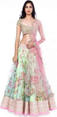 AccuStyle Embroidered Women's Lehenga, Choli and Dupatta Set(Stitched) at flipkart