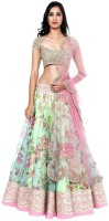 H Fashion Chaniya, Ghagra Cholis - H fashion Printed Women's Lehenga, Choli and Dupatta Set(Stitched)