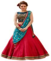 Renisha Fashion Chaniya, Ghagra Cholis - Renisha fashion Embroidered Anarakali Lehenga