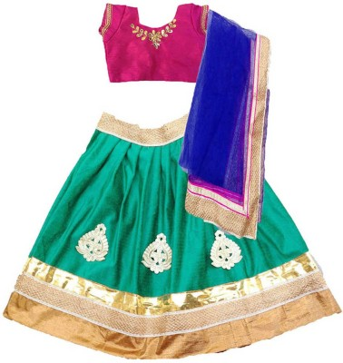 Aglare Embroidered Lehenga Choli&Dupatta at flipkart