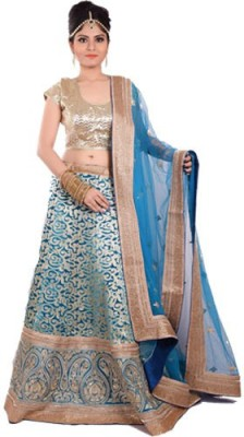 Ambika Lahenga Embroidered Lehenga, Choli and Dupatta Set