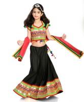 Little Pocket Store Chaniya, Ghagra Cholis - Little pocket store Embroidered Lehenga Choli Dupatta
