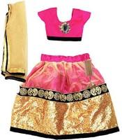 Aglare Chaniya, Ghagra Cholis - Aglare Self Design Lehenga Choli&Dupatta
