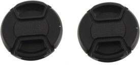 Saihan Pack of 2- 58 mm Center pinch cover with string  Lens Cap