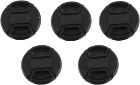 Saihan Pack of 5- 58 mm Center pinch cover with string Lens Cap