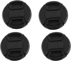 Saihan Pack of 4- 58 mm Center pinch cover with string  Lens Cap