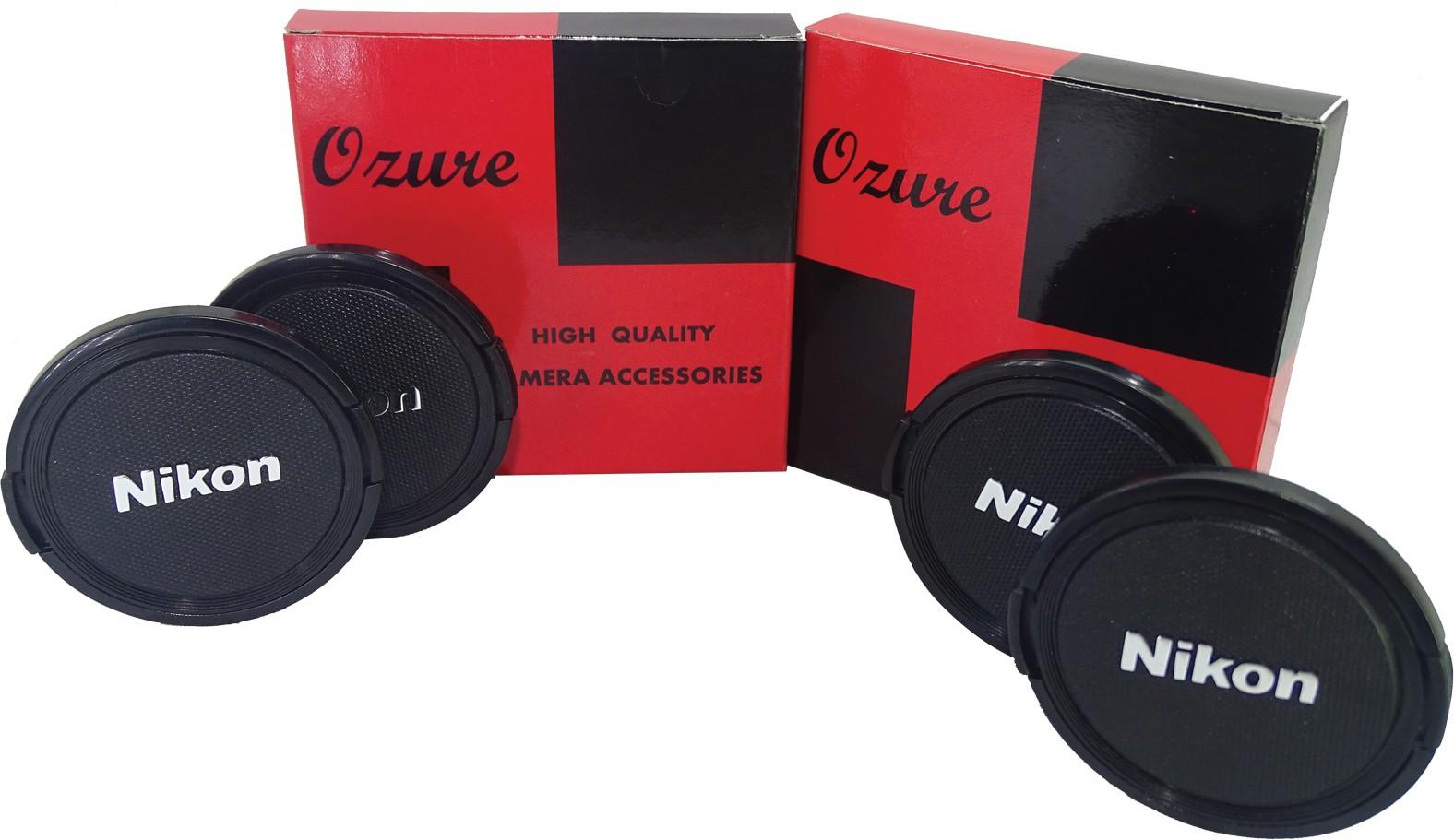 Ozure SECLCN62B  Lens Cap(Black + Silver Embossed, 62 mm)