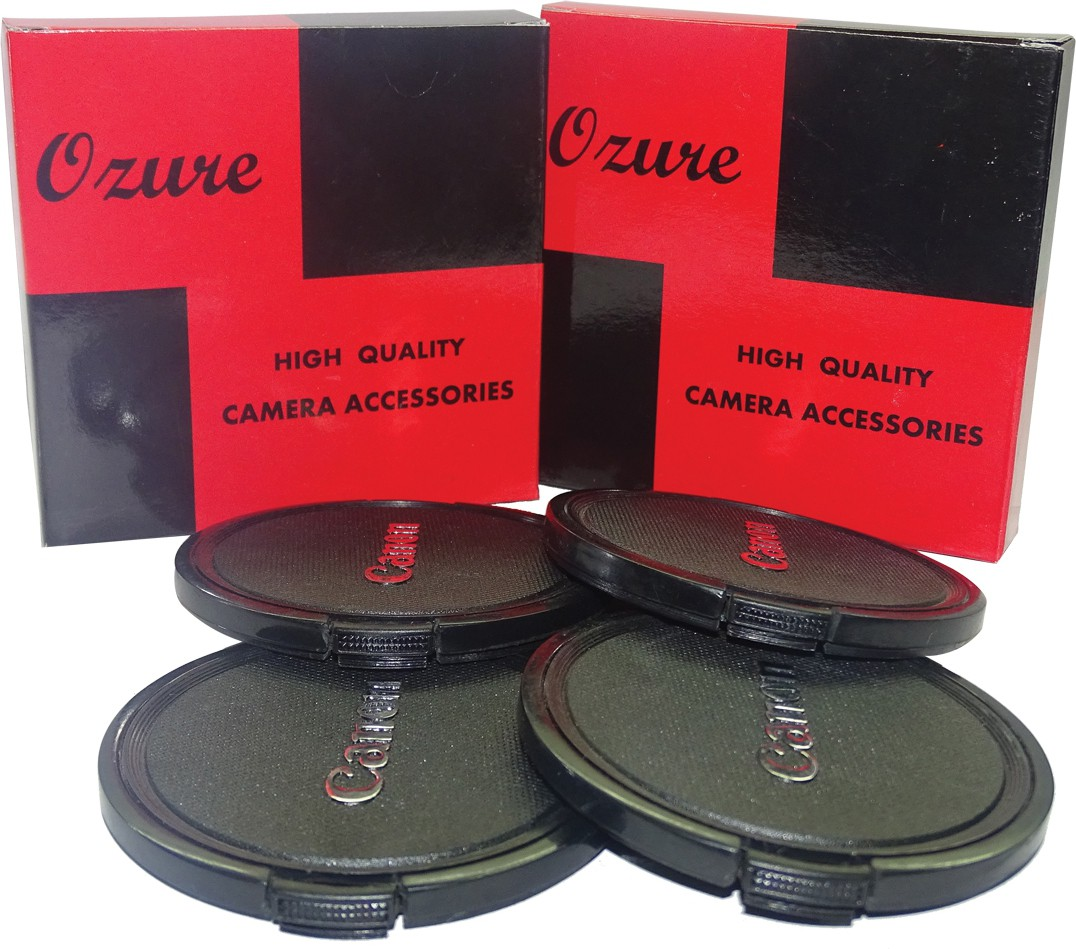 Ozure SECLCC77B  Lens Cap(Black + Silver Embossed, 77 mm)