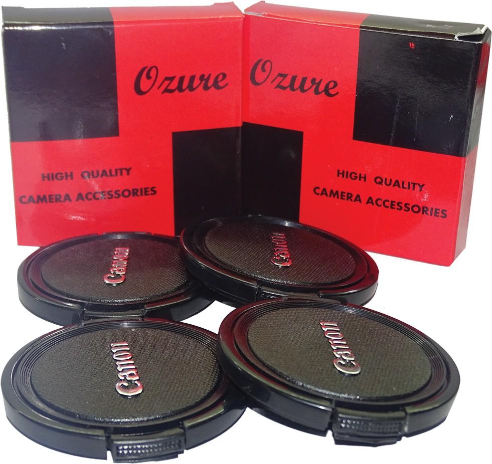Ozure SECLCC58B  Lens Cap(Black + Silver Embossed, 58 mm)