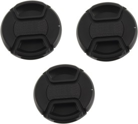 Saihan Pack of 3- 58 mm Center pinch cover with string  Lens Cap