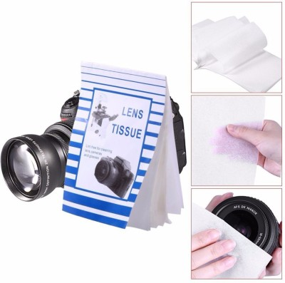 Sigaram Lens Cleaning Paper (Pack Of 2) - 50 Single Sheets (per pack) For Lenses, Camera, Camcorders, Telescopes, Eyepieces, Binoculars, Microscopes, Filters and other optics.  Lens Cleaner