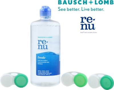 Bausch & Lomb Renu Fresh Multi-Purpose Solution 500 ml With 3 Lens Case(500 ml)