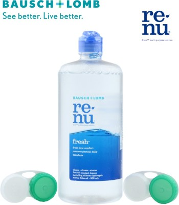 Bausch & Lomb Renu Fresh Multi-Purpose Solution 500 ml With 2 Lens Case(500 ml)