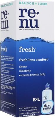 Bausch & Lomb Renu Fresh Multi Purpose Cleaning Solution(355 ml)