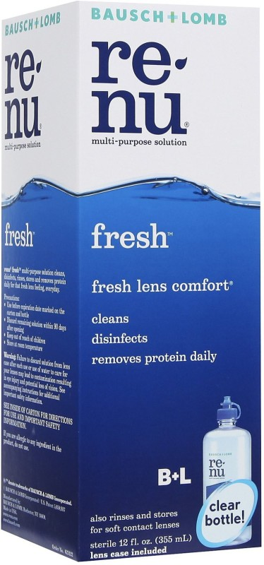 Bausch & Lomb Renu Fresh Multi Purpose Cleaning Solution(355 ml)
