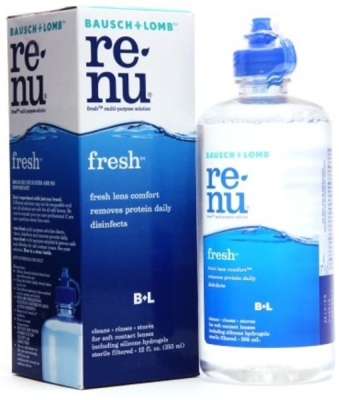 Bausch & Lomb Renu Fresh Multi Purpose Lens Solution(355 ml)