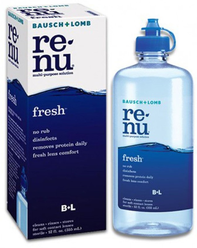 Bausch & Lomb RENU fresh MULTI-PURPOSE LENS CLEANING SOLUTION(355 ml)