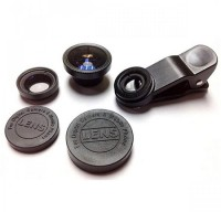 Tuzech 3 In 1 Universal Phone Lens with Clip Mobile Phone Lens(Wide and Macro)