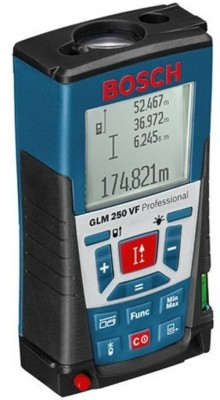 Bosch GLM 250 VF Professional Rangefinder Non-magnetic Engineers Precision Level