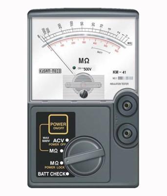 Kusam Meco KM 41 500V Analog Insulation Tester Non-magnetic Electronic Level