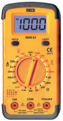 Meco M63 Yellow Digital Multimeter Non-magnetic Electronic Level