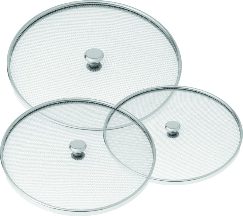 Lakshmi Net Cover 10 inch, 11 inch, 12 inch Lid Set(Stainless Steel)