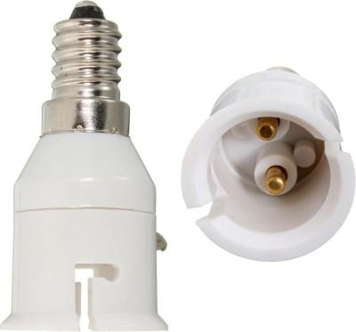 Srkc E14 to B22 Led Bulb Base Socket Adapter Plastic, Stainless Steel Light Socket