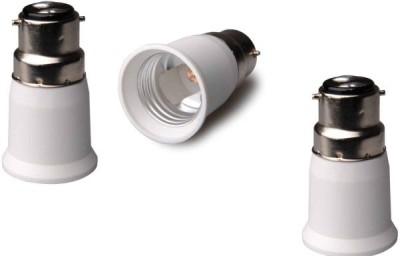 Generic B22 to E27 Plastic Light Socket(Pack of 3)