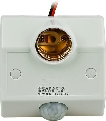 Quace Motion Sensor Holder Plastic Light Socket(Pack of 1)
